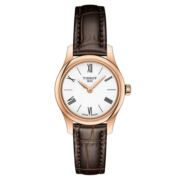 Tissot Tradition Ladies' Brown Leather Strap Watch - Product number 1250825