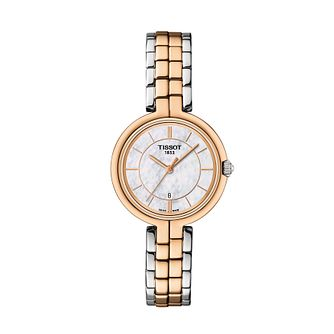 Tissot Flamingo Ladies' Two Tone Bracelet Watch - Product number 1250841