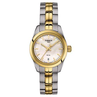 Tissot PR 100 Ladies' Two Tone Bracelet Watch - Product number 1250876