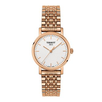 Tissot Everytime Ladies' Rose Gold Tone Bracelet Watch - Product number 1250922