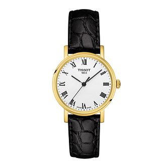 Tissot Everytime Ladies' Black Leather Strap Watch - Product number 1250930