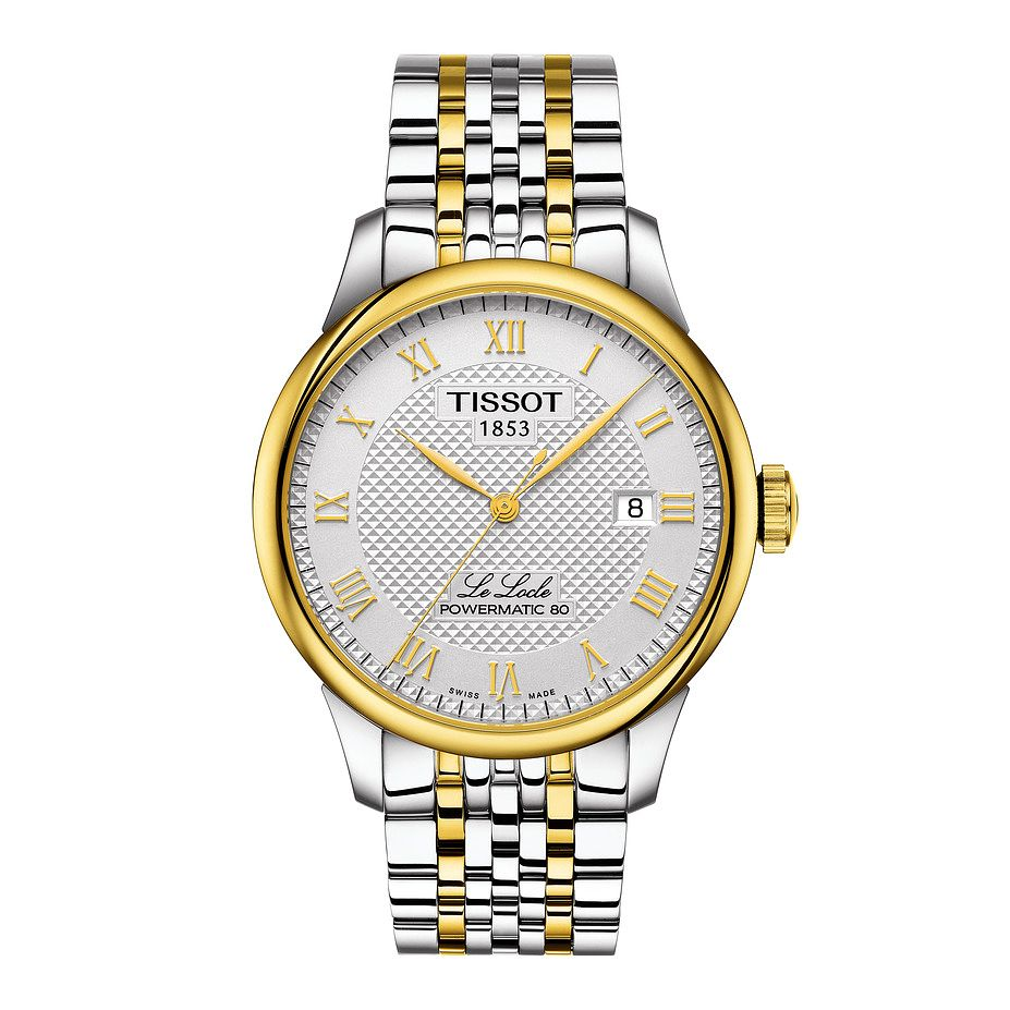 Tissot Le Locle Powermatic 80 Men's Two Tone Bracelet Watch - Product number 1251112