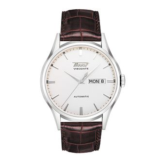 Tissot Heritage Visodate Men's Brown Leather Strap Watch - Product number 1251139