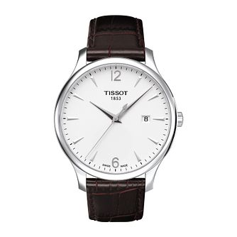 Tissot Tradition Men's Dark Brown Leather Strap Watch - Product number 1251155