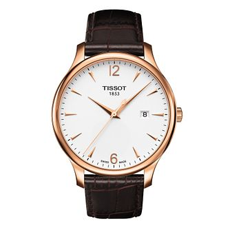 Tissot Tradition Men's Brown Leather Strap Watch - Product number 1251171