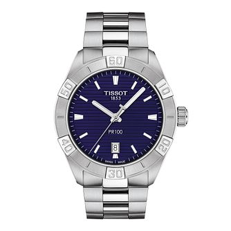 Tissot PR 100 Sport Men's Stainless Steel Bracelet Watch - Product number 1251260