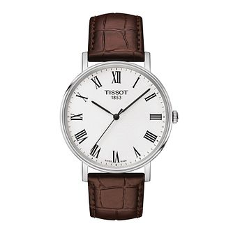 Tissot Everytime Men's Brown Leather Strap Watch - Product number 1251341