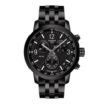 Tissot PRC 200 Chronograph Black IP Bracelet Watch - Product number 1251392