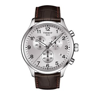 Tissot Chrono XL Men's Dark Brown Leather Strap Watch - Product number 1251457