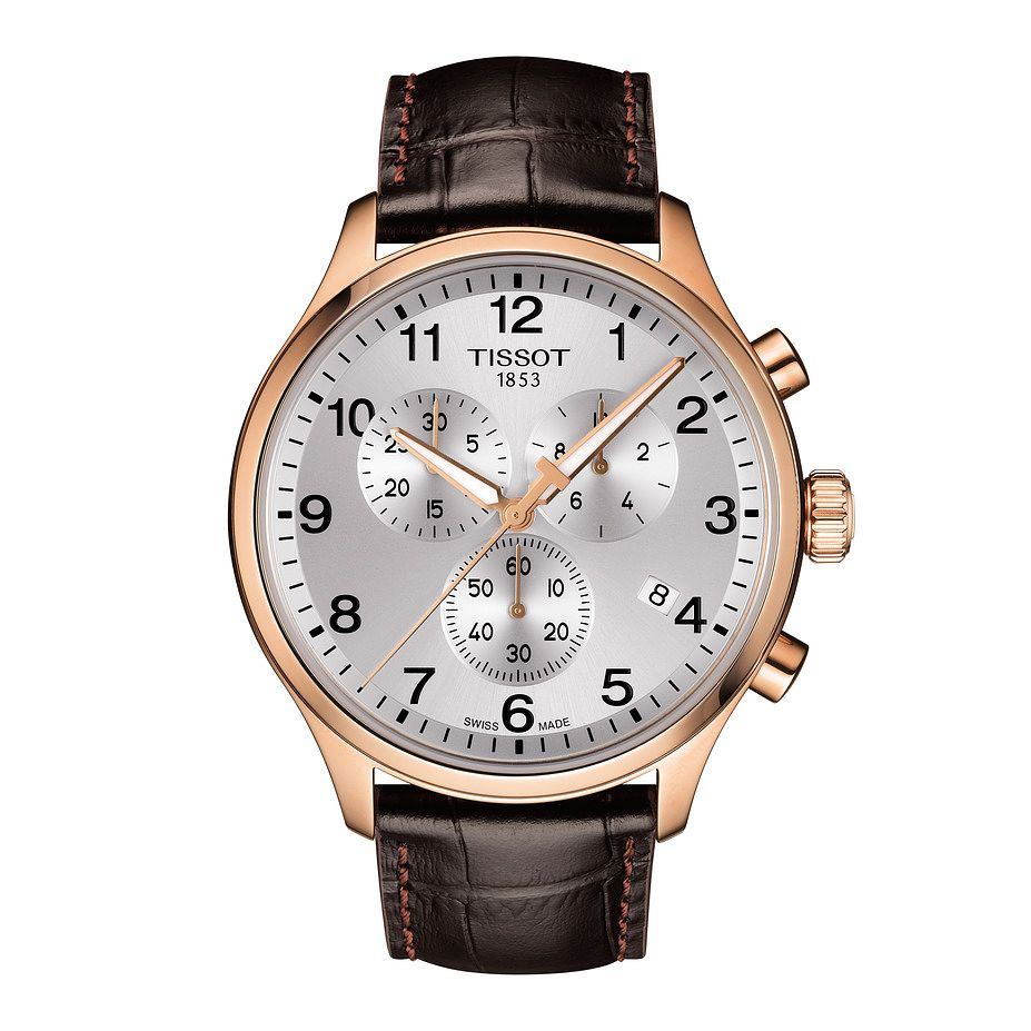 Tissot Chrono XL Men's Brown Leather Strap Watch - Product number 1251546
