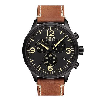 Tissot Chrono XL Men's Brown Leather Strap Watch - Product number 1251554
