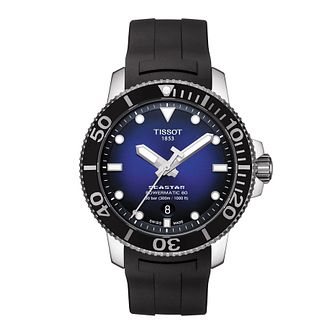 Tissot Seastar 1000 Men's Black Rubber Strap Watch - Product number 1251589