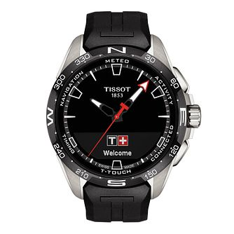 Tissot T-Touch Connect Solar Black Rubber Strap Watch - Product number 1251635
