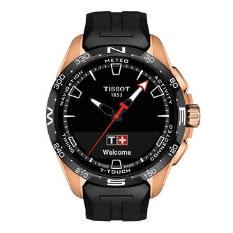 Tissot T-Touch Connect Solar Black Rubber Strap Watch - Product number 1251651