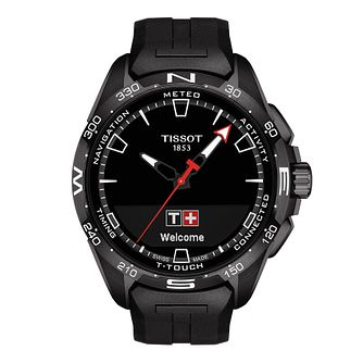 Tissot T-Touch Connect Solar Men's Black Rubber Strap Watch - Product number 1251678