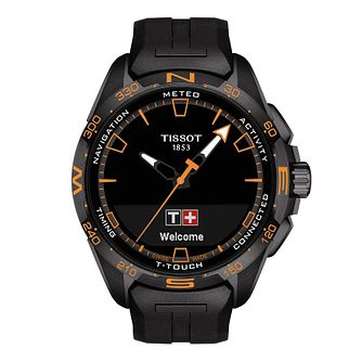 Tissot T-Touch Connect Solar Men's Black Rubber Strap Watch - Product number 1251686