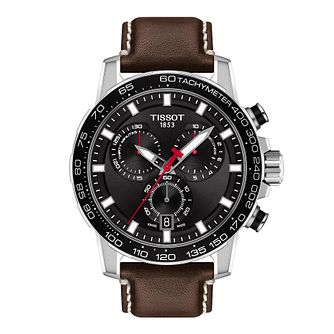 Tissot SuperSport Chrono Men's Brown Leather Strap Watch - Product number 1251759