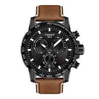 Tissot SuperSport Chrono Men's Tan Leather Strap Watch - Product number 1251783
