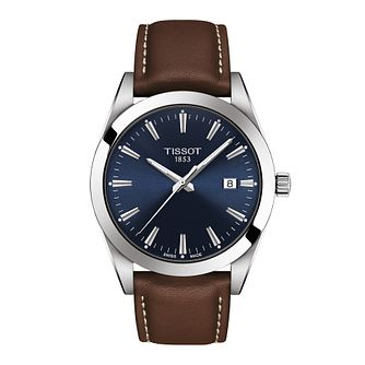 Tissot Gentleman Men's Brown Leather Strap Watch - Product number 1251821