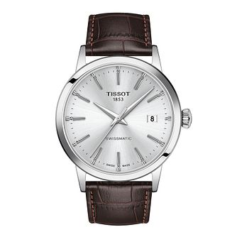 Tissot Classic Dream Swissmatic Brown Leather Strap Watch - Product number 1251848