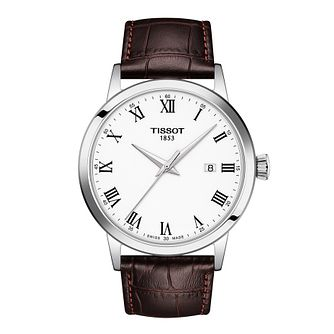 Tissot Classic Dream Men's Brown Leather Strap Watch - Product number 1251872