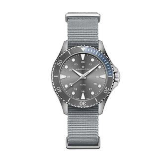 Hamilton Khaki Navy Scuba Quartz Grey Strap Watch - Product number 1251961