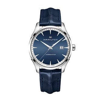 Hamilton Jazzmaster Quartz Blue Leather Strap Watch - Product number 1252070