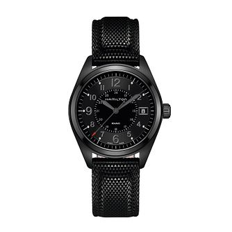 Hamilton Khaki Field Quartz Black Strap Watch - Product number 1252305