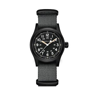 Hamilton Khaki Field Mechanical Fabric Strap Watch - Product number 1252313