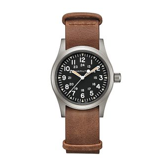 Hamilton Khaki Field Mechanical Leather Strap Watch - Product number 1252372