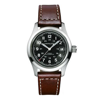 Hamilton Khaki Field Auto Brown Leather Strap Watch - Product number 1252402