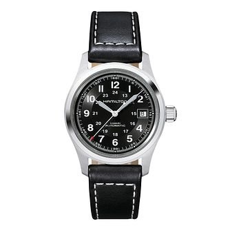 Hamilton Khaki Field Automatic Leather Strap Watch - Product number 1252410