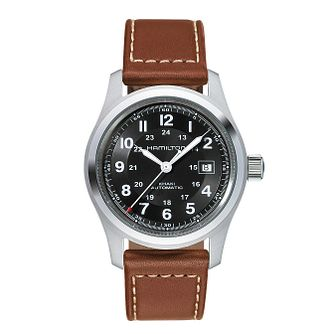 Hamilton Khaki Field Automatic Leather Strap Watch - Product number 1252429