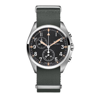 Hamilton Khaki Aviation Pilot Pioneer Fabric Strap Watch - Product number 1252488