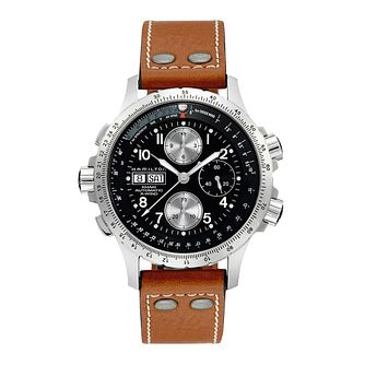 Hamilton Khaki Aviation X-Wind Brown Leather Strap Watch - Product number 1252666