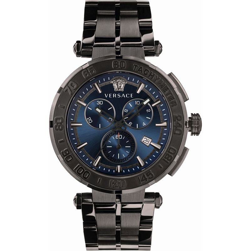 Versace Greca Chrono Men's Black IP Bracelet Watch - Product number 1255592