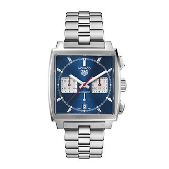TAG Heuer Monaco Men's Stainless Steel Bracelet Watch - Product number 1256645