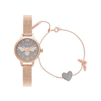 Olivia Burton You Have My Heart Rose Gold Tone Gift Set - Product number 1256688