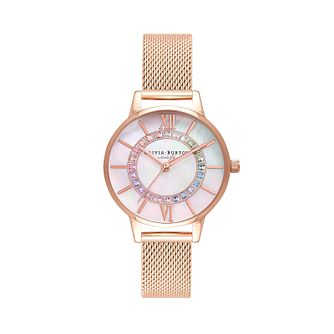 Olivia Burton Sparkle Wonderland Rose Gold Tone Watch - Product number 1256742