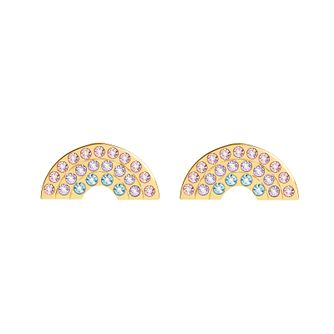 Olivia Burton Rainbow Yellow Gold Tone Stud Earrings - Product number 1256777