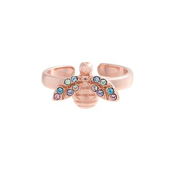 Olivia Burton Rainbow Bee Rose Gold Tone Ring - Product number 1256939