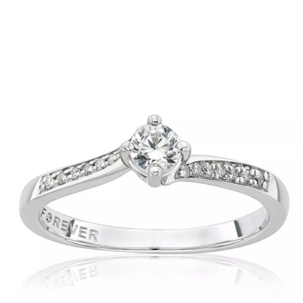 The Forever Diamond Platinum 0.25ct Total Diamond Ring - Product number 1257013