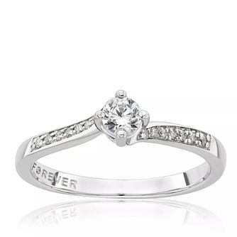Platinum 1/4ct Solitaire Forever Diamond Ring - Product number 1257013