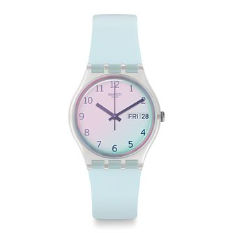 Swatch Ultraciel Unisex Light Blue Silicone Strap Watch - Product number 1259814