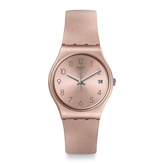 Swatch Pinkbaya Unisex Pink Silicone Strap Watch - Product number 1259822