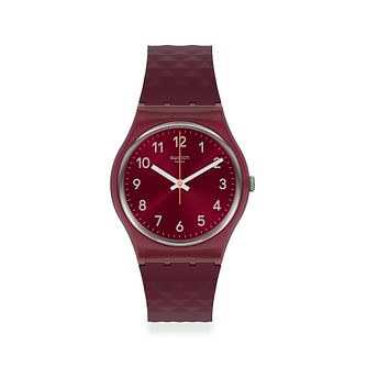 Swatch Rednel Unisex Red Silicone Strap Watch - Product number 1259830