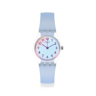 Swatch Casual Blue Unisex Light Blue Silicone Strap Watch - Product number 1259857