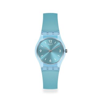 Swatch Fairy Frosty Unisex Blue Silicone Strap Watch - Product number 1259865