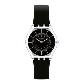 Swatch Black Classiness Unisex Black Silicone Strap Watch - Product number 1259911