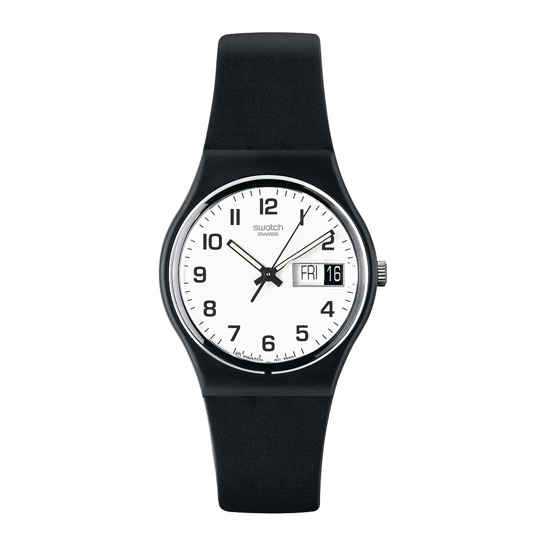 Swatch Once Again Unisex Black Plastic Strap Watch - Product number 1259962